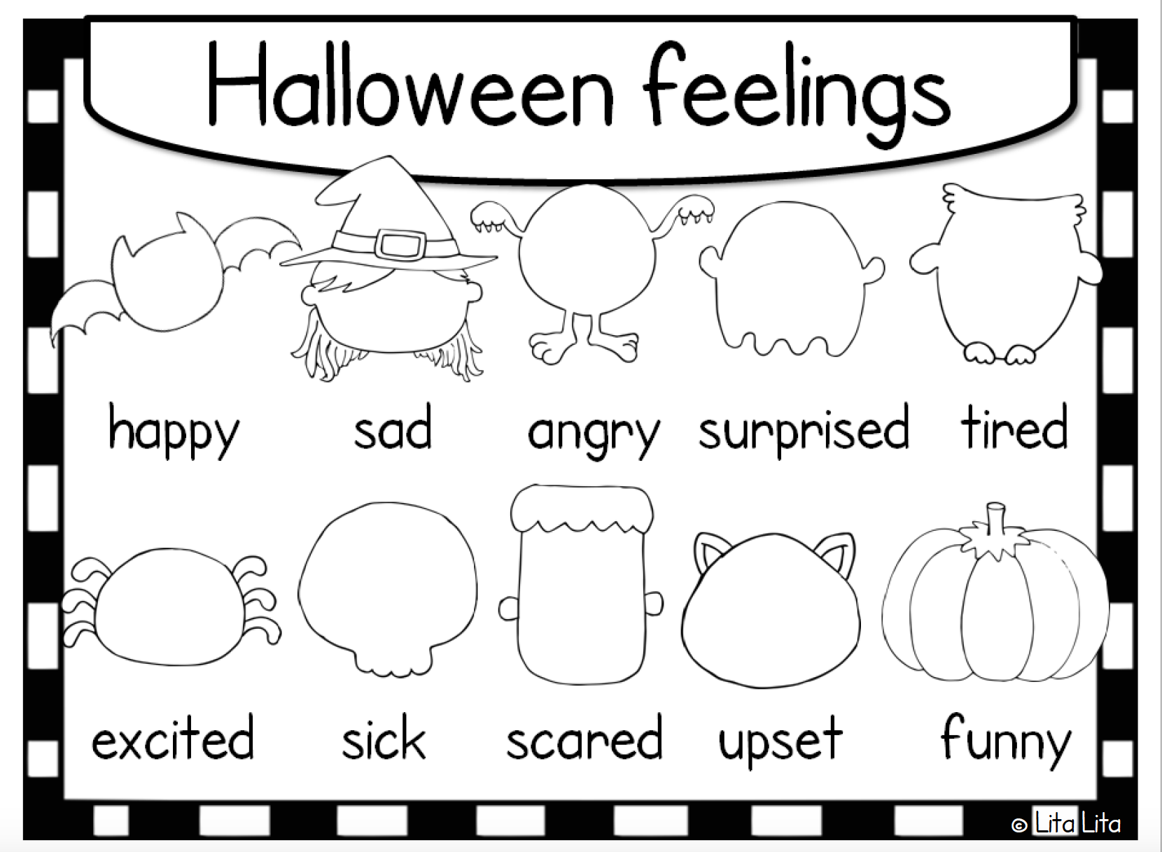 Halloween Themed Lesson on Feelings